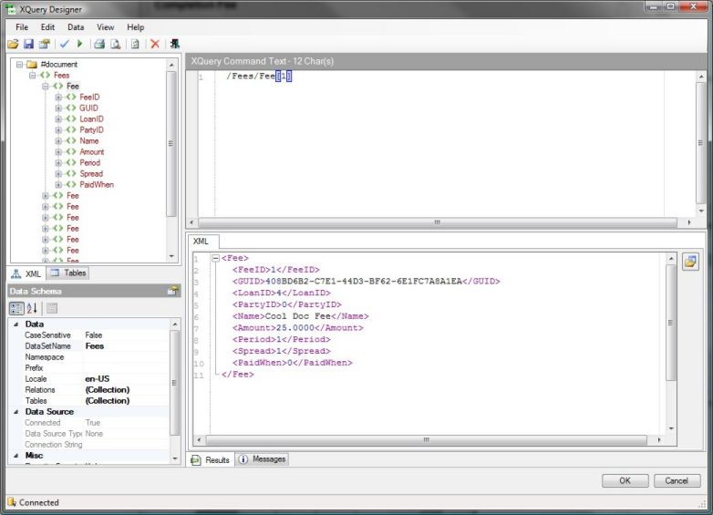 Click to view Indigo DXQ Data XQuery Designer screenshots